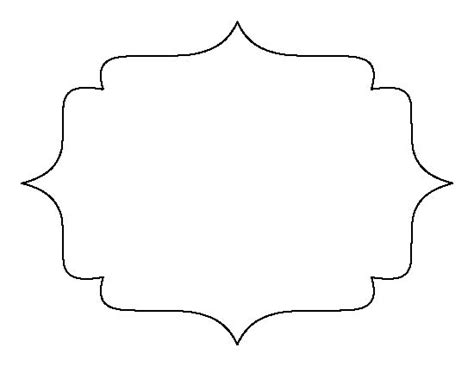 frame outline template bracket frame pattern use the printable outline for