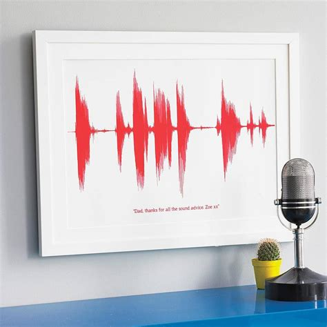 personalised voice or song sound wave print by newton and