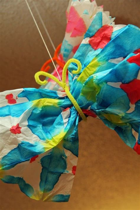 Tie Dye Paper Craft - 17 best images about butterflies on tissue