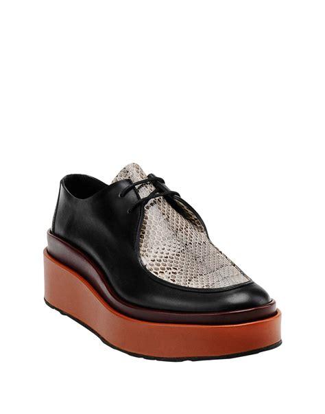 Jil Sander Shoe 2 by Jil Sander Lace Up Shoe In Black Lyst