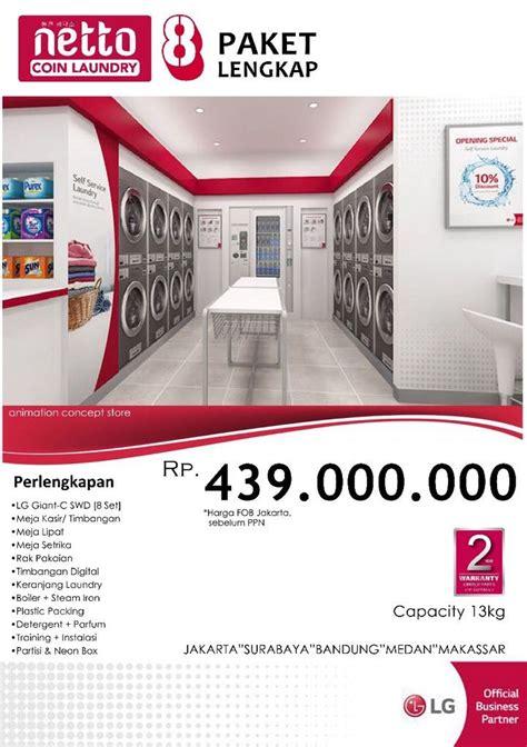Mesin Cuci Lg Di Lotte Mart paket netto coin laundry 8 lengkap laundry mart indonesia