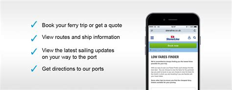 free mobile site mobile site book your ferry travel on the move stena line
