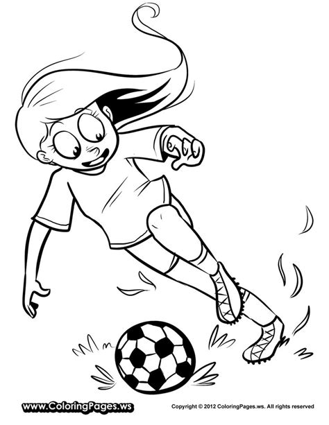 coloring page soccer girl 1000 images about coloring book i wanna make for my girls