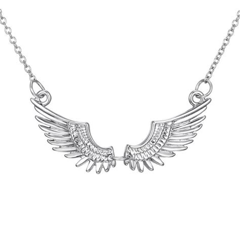 White Gold With Silver Chain 010 fashion silver wing white gold plated necklace pendant chain jewelry ebay