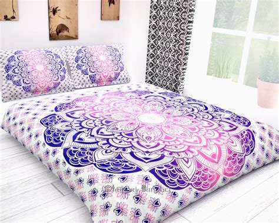 Boho Quilt Covers by Ombre Mandala Boho Duvet Cover Indian Quilt Cotton