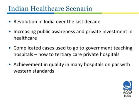 Mba In Quality Management In India by Improving Healthcare Quality In India