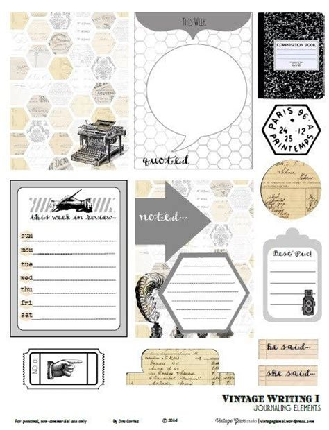 free printable journal labels free printable download vintage writing 1 journaling