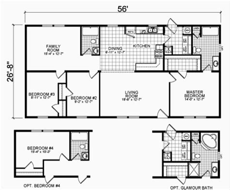 2 bedroom double wide floor plans chion explorer ii double wide showcase homes of maine