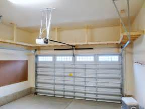 overhead garage storage on garage ceiling