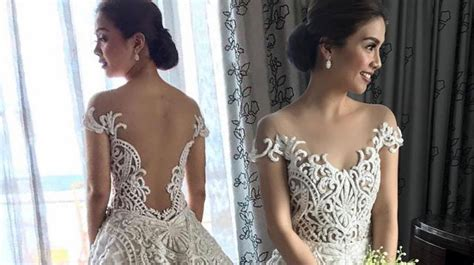 kaye abad wore  gorgeous francis libiran gown