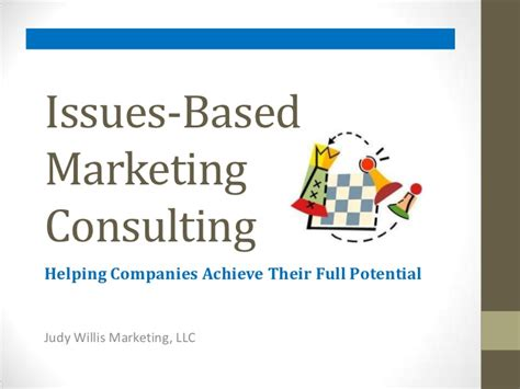 issues based marketing consulting