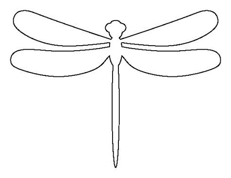 Dragonfly Outline Template dragonfly pattern use the printable outline for crafts creating stencils scrapbooking and