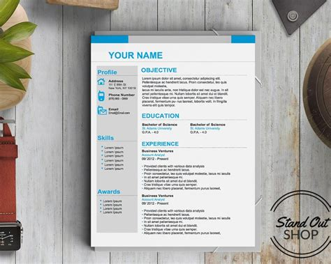number one resume template stand out shop