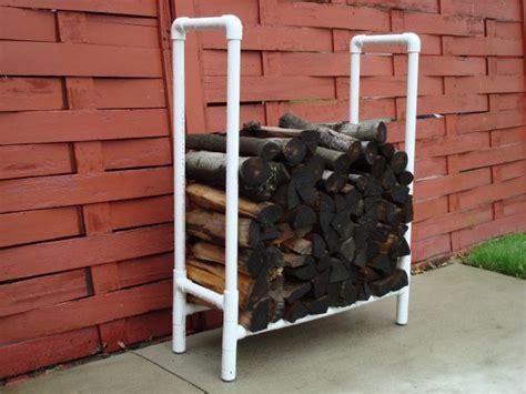 diy firewood rack pipe 18 best diy firewood storage ideas