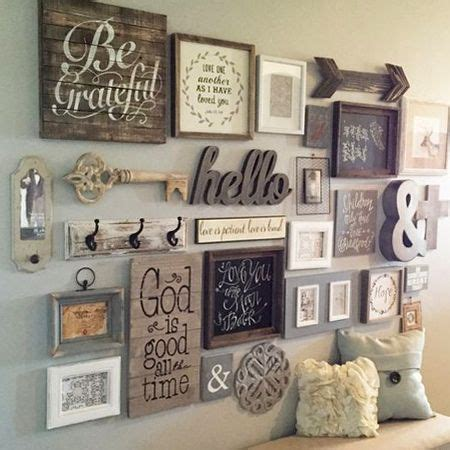 wall art collage decorate a feature wall with wood accents that you hand