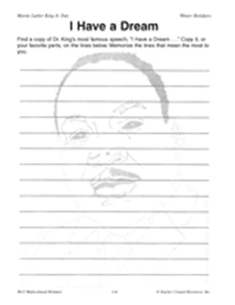 printable version of i have a dream speech i have a dream black history month printable grades 5 8
