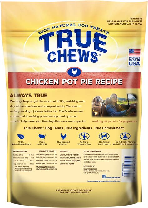 Chews Chicken true chews premium chicken pot pie recipe treats 12 oz bag chewy