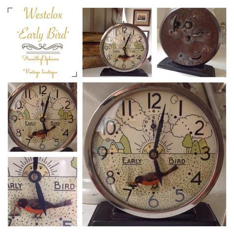 vintage clock westclox early bird animated alarm clock