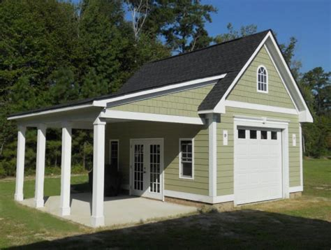 garage plans with porch garage with porch 18 x20 garage with hardi plank siding and 12 x18 porch house