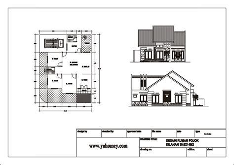 gambar desain rumah tak depan belakang dan sing contoh sur