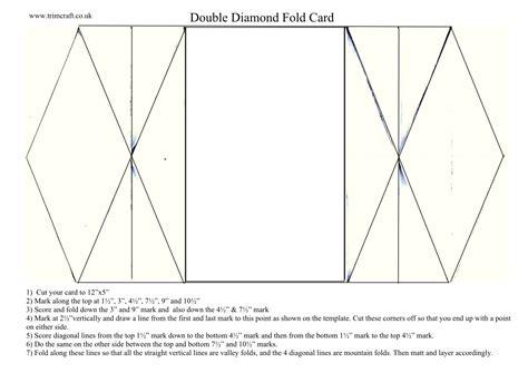4 fold card template icedimages fold cards