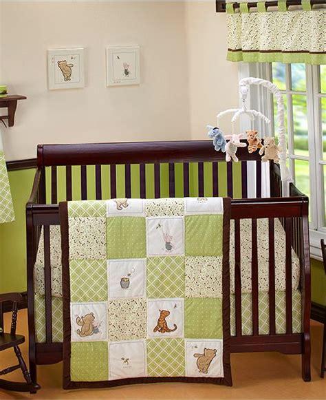 winnie the pooh nursery bedding sets disney winnie the pooh my friend pooh 4 pc crib bedding set bed in a bag bed bath macy s