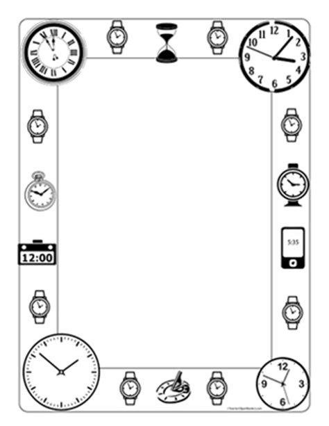 printable clock borders blank digital clock clipart clipart panda free clipart