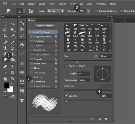 pattern brush tool photoshop how to create custom brushes to render fur in adobe photoshop