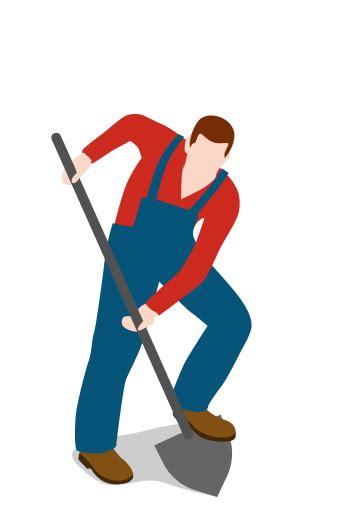 farm farmer digging man people male shovel icon
