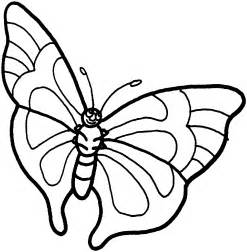 pic butterfly simple black white colouring kindergarten free download clip art