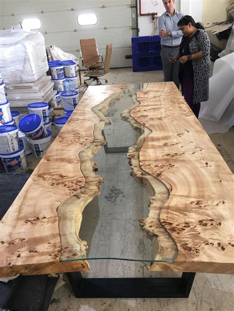 live edge table with glass and poplar burl timber salvabrani best 25 live edge table ideas on live edge wood wood slab table and live edge bar