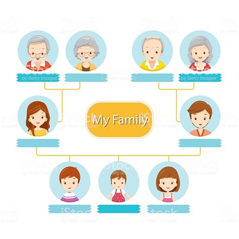 Happy Family Tree Stock Vector Art 489003054 Istock Family Tree Stock Vector Illustration