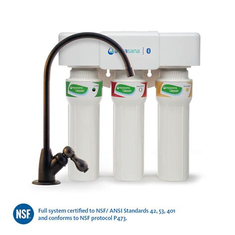 aquasana 3 stage max flow counter water filtration