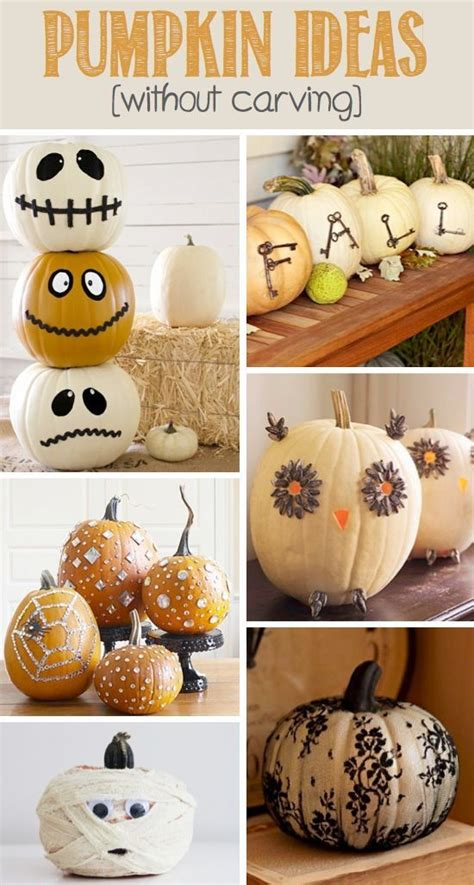 Pumpkin Decorating Ideas Without Carving by Pumpkin Ideas Without Carving Pictures Photos And Images