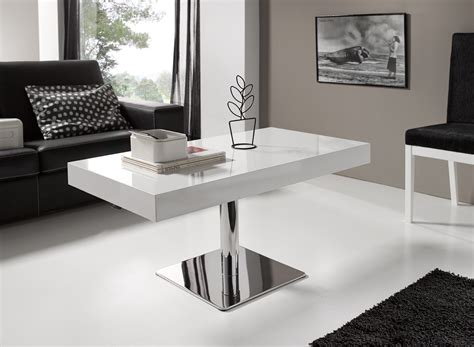 table pied central table basse relevable pied central