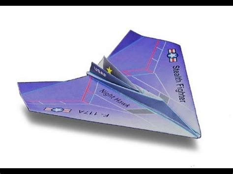 How To Make A Paper Nighthawk - nighthawk paper airplane f 117 hawk