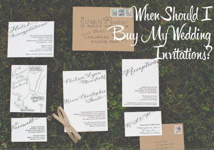 when should i buy my wedding invitations when every detail matters