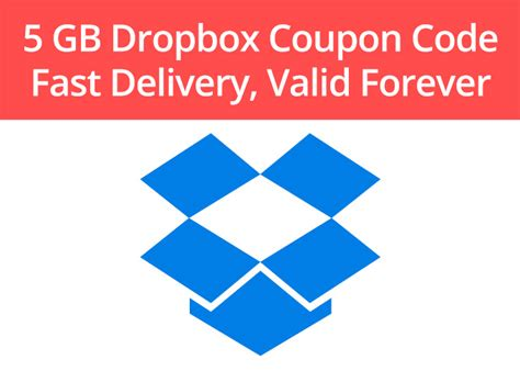 dropbox discount upgrade your dropbox with a 5 gb coupon code fiverr