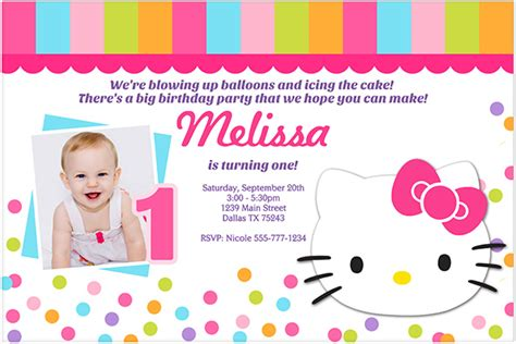 invitation layout hello kitty hello kitty birthday invitation bagvania free printable