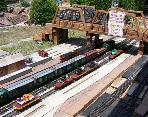 G Scale Garden Railway Layouts G Scale Trains The Yard At The Original Sagres Quot G Quot Layout At The Garden
