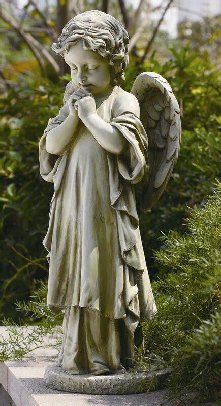 roman  young praying angel garden statue reviews