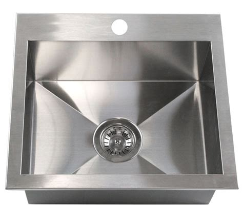 Mount Bar Sink by 19 Inch Top Mount Drop In Stainless Steel Single Bowl