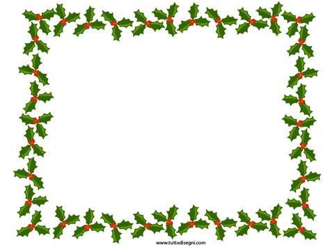 cornici natalizie gratis cornicetta di natale con agrifoglio tuttodisegni
