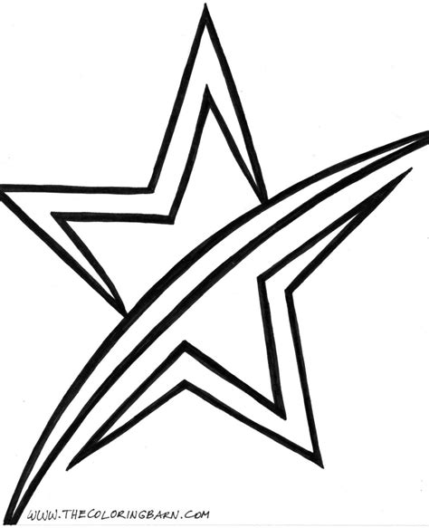 free shooting star coloring pages