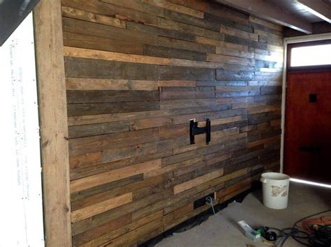 install an accent wall wood paneling ideas for coastal pallet wall tutorial wall paneling diy 101 pallet ideas