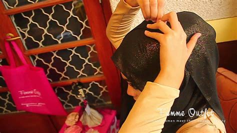 tutorial pashmina rajut glitter hijab tutorial glitter sparkling chiffon shawl by femme