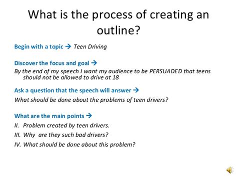 What Is A Outline by Outlining An Presentation