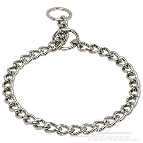 choke chain buy chrome plated choke collar for behavior correction