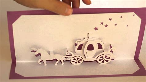 Cinderella Pop Up Card Template by Origamic Architecture Pop Up Cinderella Coach