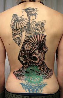 geisha tattoo back piece art of tattoos galleries back piece japanese tattoos with
